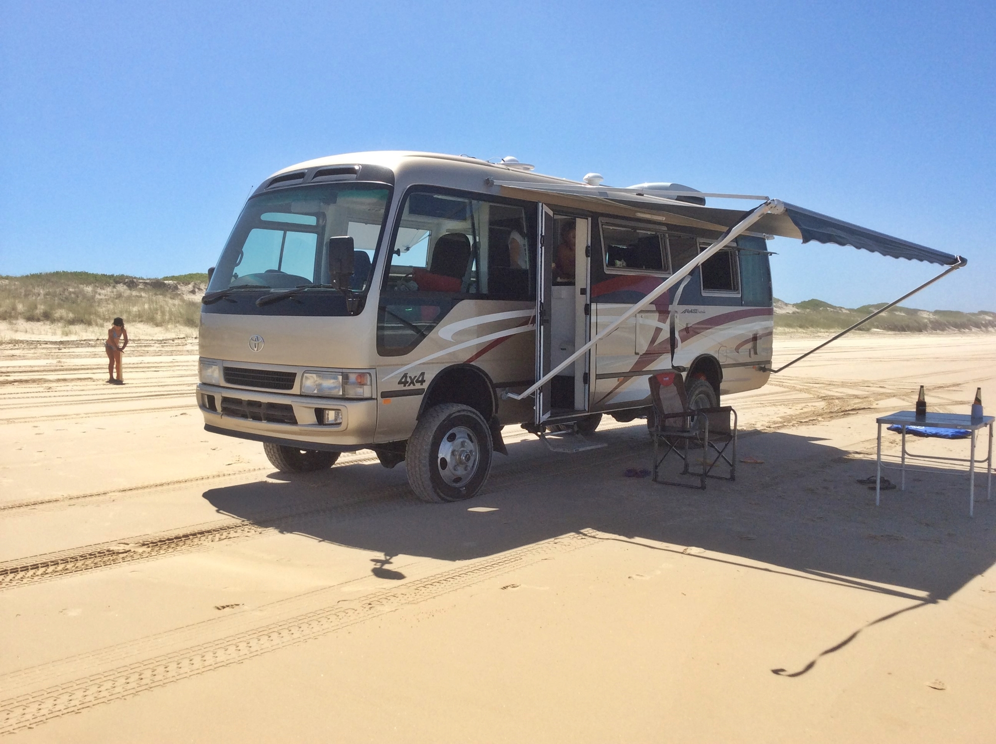 Bus 4x4 Motorhome Conversion of Used Coaster